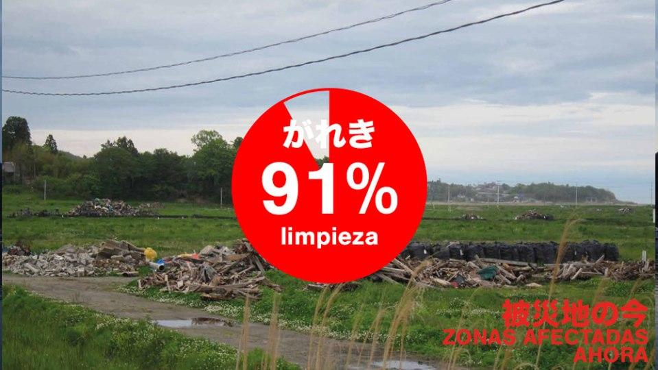91% de escombros retirados