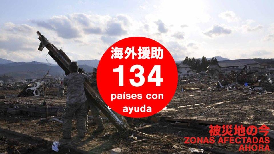 134 países que ofrecieron ayuda