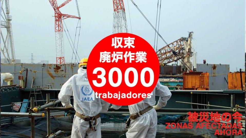 3000 trabajadores en la central nuclear